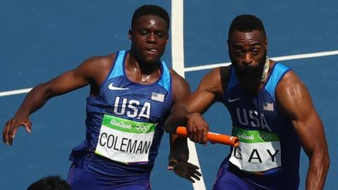 Christian Coleman and Tyson Gay
