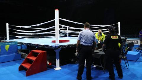 Boxing ring at the Commonwealth Games