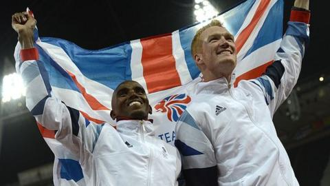 Mo Farah and Greg Rutherford
