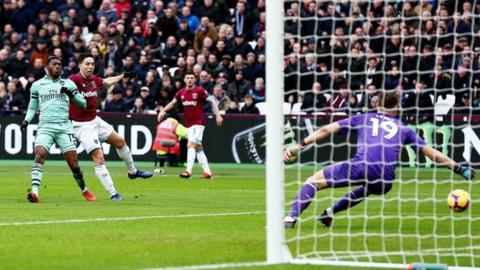 West Ham United 1-0 Arsenal: Declan Rice scores winner