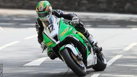 Derek McGee during Superbike qualifying at the 2019 TT in the Isle of Man