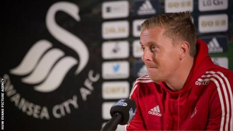 Garry Monk at a media conference on Thursday, 22 October
