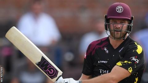 Corey Anderson in action for Somerset