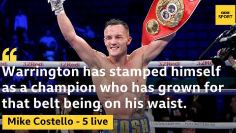 Josh Warrington is was Mike Costello's British fighter of the year in 2018