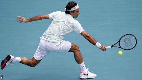 Roger Federer in the Miami Open final