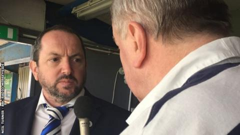 Chester chairman David Harrington-Wright was interviewed by BBC Radio Merseyside's Neil Turner after Saturday's victory at Barrow