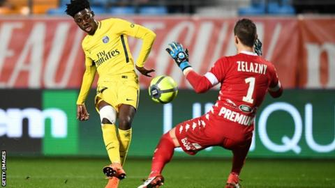 George Weah's son Timothy makes PSG debut
