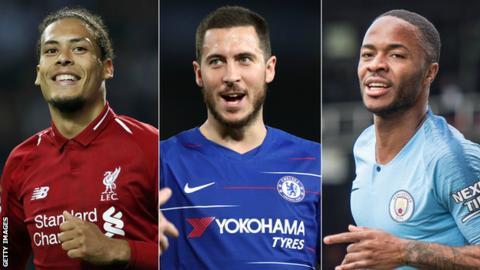 Virgil van Dijk, Eden Hazard & Raheem Sterling