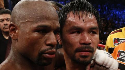 Floyd Mayweather and Manny Pacquaio