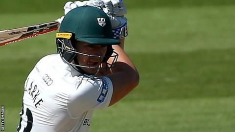 Joe Clarke in action for Worcestershire