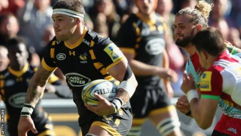 Guy Thompson scores Wasps' second try
