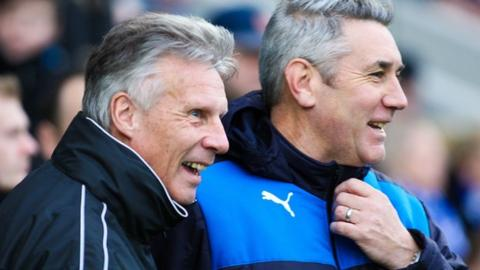 Walsall joint-caretaker manager John Ward and Chesterfield caretaker boss Mark Smith