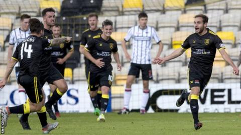 Keaghan Jacobs (far left) and Scott Pittman (far right) have been key players for Livingston this term