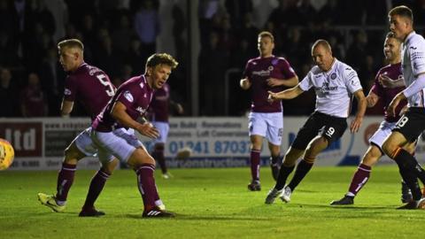 Partick Thistle striker Kenny Miller scores the equaliser