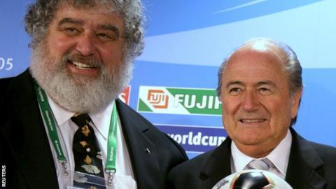Chuck Blazer (left) and Fifa president Sepp Blatter