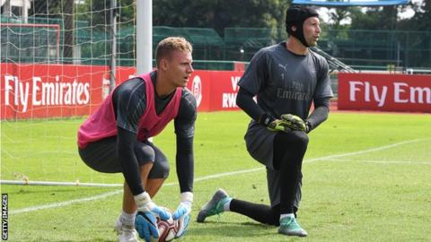 Arsenal goalkeeper Petr Cech criticises Bayer Leverkusen after tweets