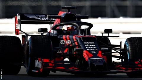 Red Bull driver Max Verstappen in the RB15