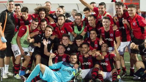 Red Imps beat Celtic 1-0 in Gibraltar last week