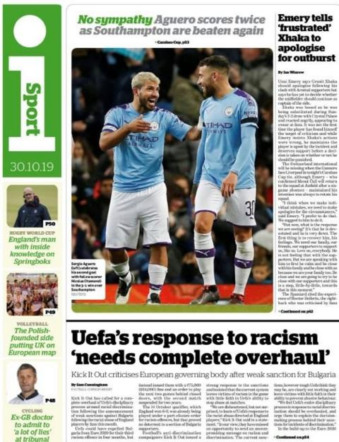The sport section in I