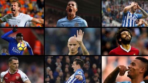 Premier League footballer collage