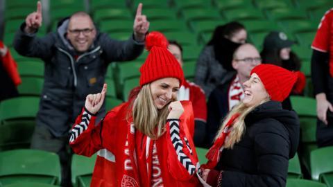 Fans at the Aviva
