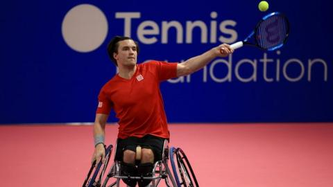 Gordon Reid in action in Loughborough