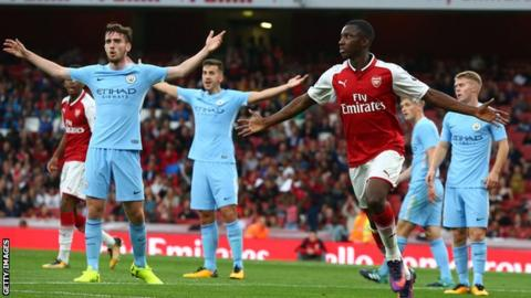 Arsenal and Manchester City's youngsters