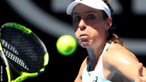 Clinical Konta reaches Australian Open second round as Watson exits