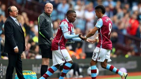 Rushian Hepburn-Murphy's Villa Park debut came as a late substitute for Scott Sinclair in last season's final home Premier League game against Newcastle United