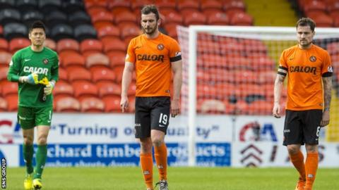 Dundee United appear destined for the drop