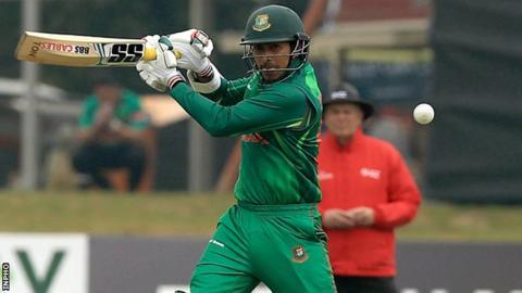Tamim Iqbal plays a cut shot at Malahide