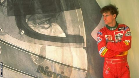 Eddie Irvine ahead of the 1995 Brazilian Grand Prix