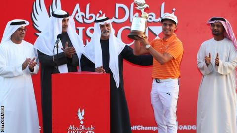 The win was Rickie Fowler's second on the European Tour