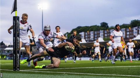 Tommy Seymour opened the scoring for Glasgow Warriors