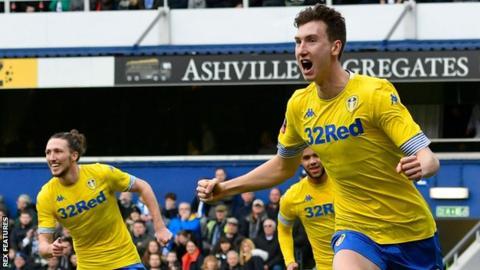 Aapo Halme celebrates scoring for Leeds against QPR
