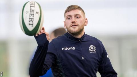 Finn Russell trains with Scotland this week