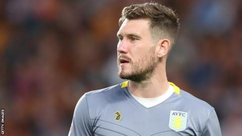 Jed Steer in action for Aston Villa