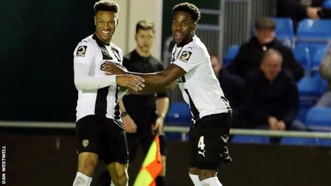 Wes Thomas's ninth goal of the season lifted Notts to sixth in the National League