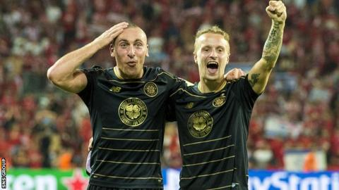 Celtic duo Scott Brown and Leigh Griffiths