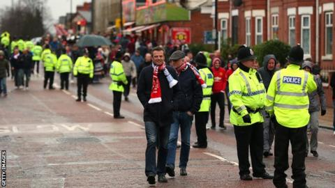 Police on Sir Matt Busby Way