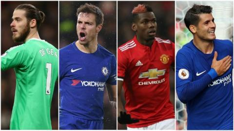 Image result for manchester united vs chelsea combined XI