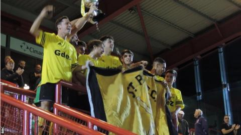 St Paul's lift the 2015 Charity Cup