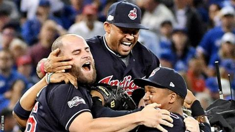 Cleveland Indians beat Toronto Blue Jays to reach the World Series