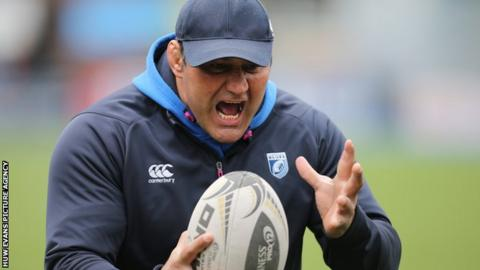 Dale McIntosh spent two spells as joint interim head coach at Cardiff Blues