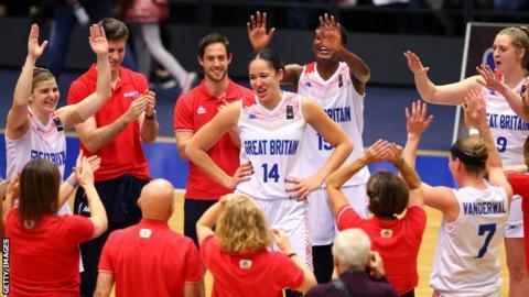 Azania Stewart celebrates