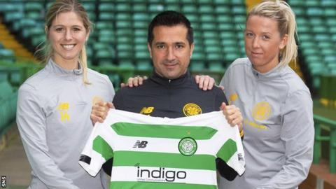 Sarah Teegarden, left, and Chloe Craig, right, are Fran Alonso's first signings as Celtic women head coach