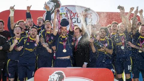 Arbroath won the League Two title last season