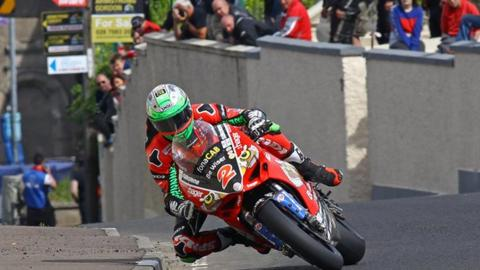 Glenn Irwin celebrated Superbikes wins at the 2018 North West 200