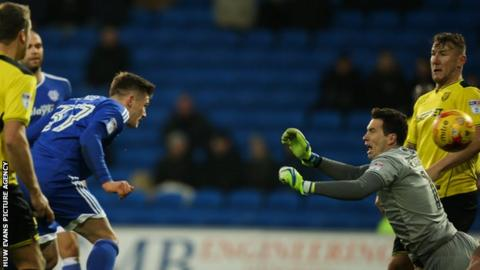 Rhys Healey heads-in Cardiff City's winner against Burton