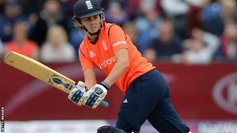 England's Natalie Sciver in action with the bat